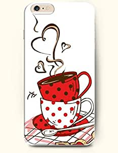 OFFIT iPhone 6 Plus Case 5.5 Inches Two Cups of Hot Drink