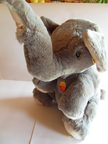 Steiff elephant, Cosy Jumbo, sitting, LARGE!!!! w. all IDs, made in Germany 318