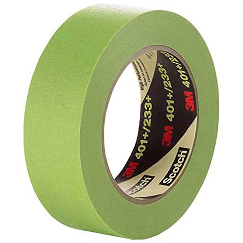 3M Masking Tape 401+, 6.7 Mil, 6mm x 55m, Green - Lot of 96 by 3M