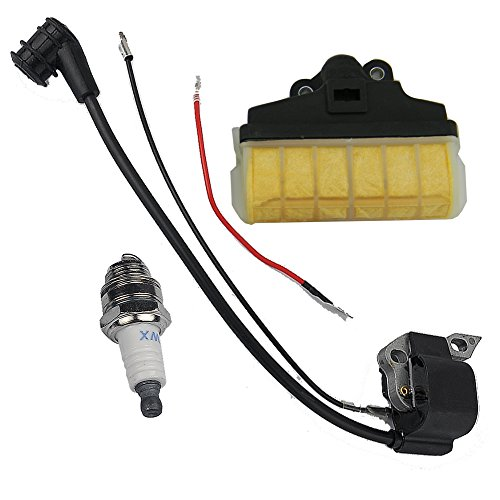 HIPA Ignition Coil + Spark Plug + Air Filter for STIHL 021 023 025 MS210 MS230 MS250 Chainsaw (Assy Wire Plug)