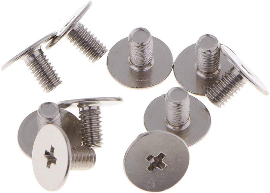 10stk Schraube Nieten mit Ring Leder Dekoration Stud Nieten rund Kopf