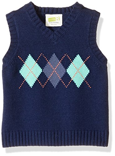 Navy Argyle Sweater - 8