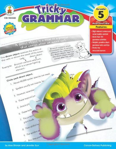 Amazon.com: Tricky Grammar, Grade 5 (9781936024278): Alex Shirran ...
