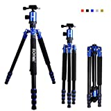 Zomei Z888 Portable SLR Camera Aluminium Tripod Monopod & Ball Head Portable Compact Travel Up to 20lbs Blue