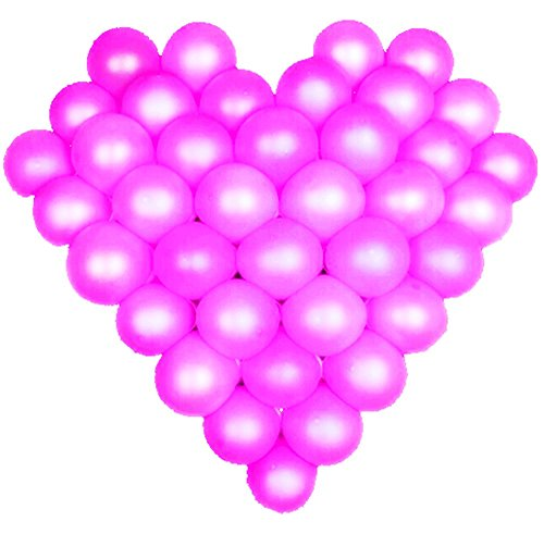 Elecrainbow 5 Inch Purple Balloons, Round Pearl Balloon for Balloon Arch Modeling, Pack of 100