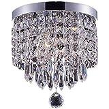 Amazon kids chandeliers ceiling lights tools home smart lighting 1 light modern crystal chandelier pendant ceiling lamp chrome finish crystal aloadofball Gallery