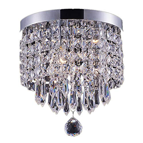 Chrome And Crystal Pendant Lighting in US - 8