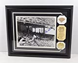 Willie Mays Signed Photo with Game Used Bat and Coin Framed Auto DA025205 - Autographed MLB Photos