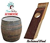 Reclaimed Wood Wine Bottle Holder - Self Balancing Wine Holder - Great Conversation Piece (Authentic Reclaimed Wine Barrel Wood Staves)