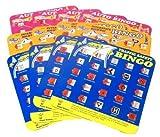 Travel Auto Bingo Roadtrip Game, Set of 12 Cards (4 Green, 4 Orange, 4 Pink)