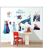 Kibi Muursticker Frozen Disney Frozen voor kinderkamer Living Room Verwijderbare Prinses Elsa Muurtattoo Kinderkamer Frozen Olaf