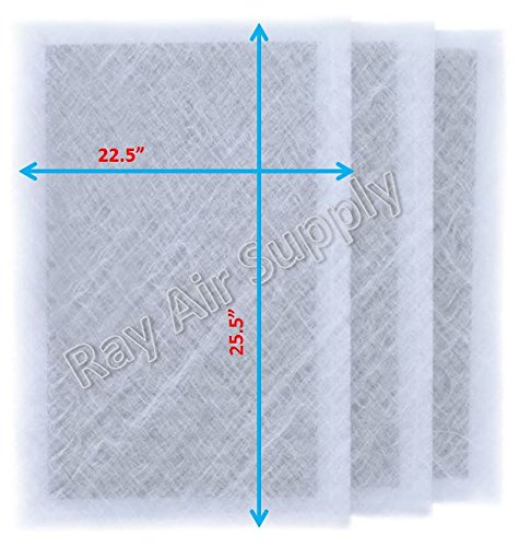 RAYAIR SUPPLY 24x28 Dynamic Air Cleaner Replacement Filter Pads 24 x 28 Refills (3 Pack)