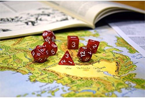 shibby 42 dados poliédricos en Multicolor para juegos de rol y mesa, incluye bolsa: Amazon.es: Juguetes y juegos
