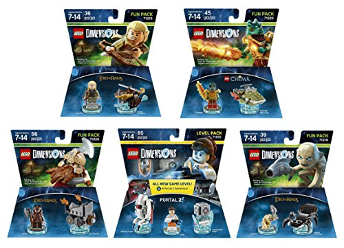 Lego Racers Ring (Portal 2 Level Pack + The Lord Of The Rings Legolas + Gimli + Gollum + The Legend Of Chima Cragger Fun Packs - LEGO Dimensions - Not Machine Specific)
