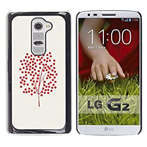 Planetar® ( Tree Art Fruitful Red Bush Red Autumn ) LG G2 / D800 D801 D802 D803 VS980 LS980 Fundas Cover Cubre Hard Case Cover