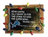 NFL Detroit Lions Resin Chalkboard Sign Ornament, Blue, One Size
