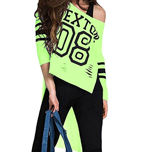 YeeATZ Stylish Print Pink Sleeved Long Back Shirt(LightGreen,S)