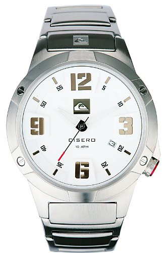 Quiksilver Qs-1 Cisero - Reloj de caballero de cuarzo, correa de acero inoxidable color plata: Amazon.es: Relojes