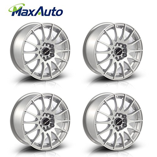 MaxAuto 4 pcs 15X6.5, 5x100 /5x112, 73.1, 38, Silver Rims Alloy Wheels Compatible with Chevrolet Cavalier 1982-2005/Toyota Camry 1986-1991/Toyota Prius 04-17/Toyota Corolla 03-07/Dodge Neon 95-05
