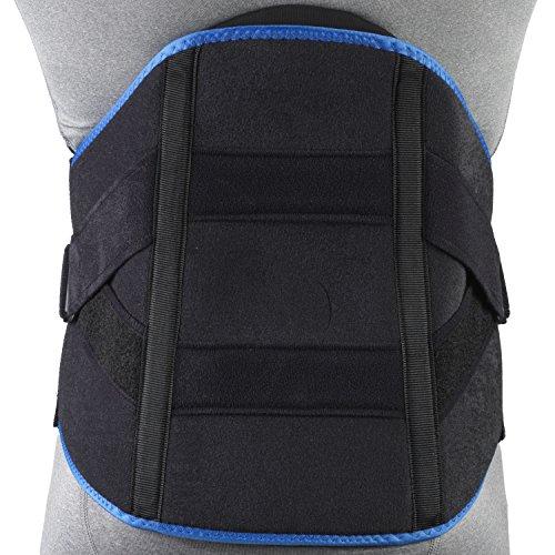 Lumbosacral Orthosis - OTC Lumbosacral Orthosis Support Heavy Duty Back Brace Trutek, Black, XX-Large