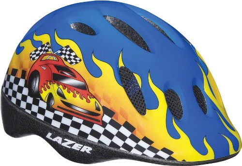Lazer-Max-Youth-Helmet-Blue-Race-Car-One-Size