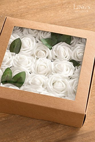 Lings-moment-Artificial-Flowers-50pcs-Real-Looking-Dusty-Rose-Fake-Roses-wStem-for-DIY-Wedding-Bouquets-Centerpieces-Bridal-Shower-Party-Home-Decorations