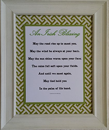 Irish Wedding Blessing - Framed Inspirational Prayer - Wedding, Housewarming, or Anniversary Gift (Personalization Available)
