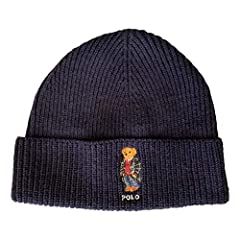 This wool-blend knit cap features our iconic mascot sporting classic Ralph Lauren attire, adding a spirited touch to this cold-weather essential.