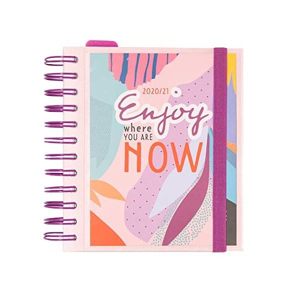 Grupo Erik Diario Scuola Giornaliero 2020/2021 Amelie, 11 mesi, daily planner, 14x16 cm, Tropical Collection 1 spesavip