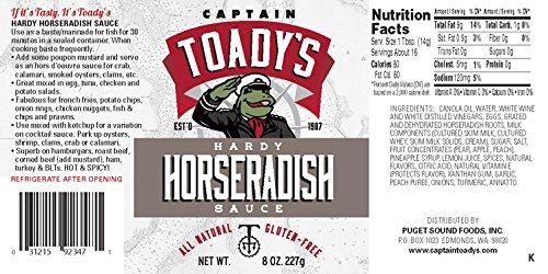 Toady's Hardy Horseradish Sauce