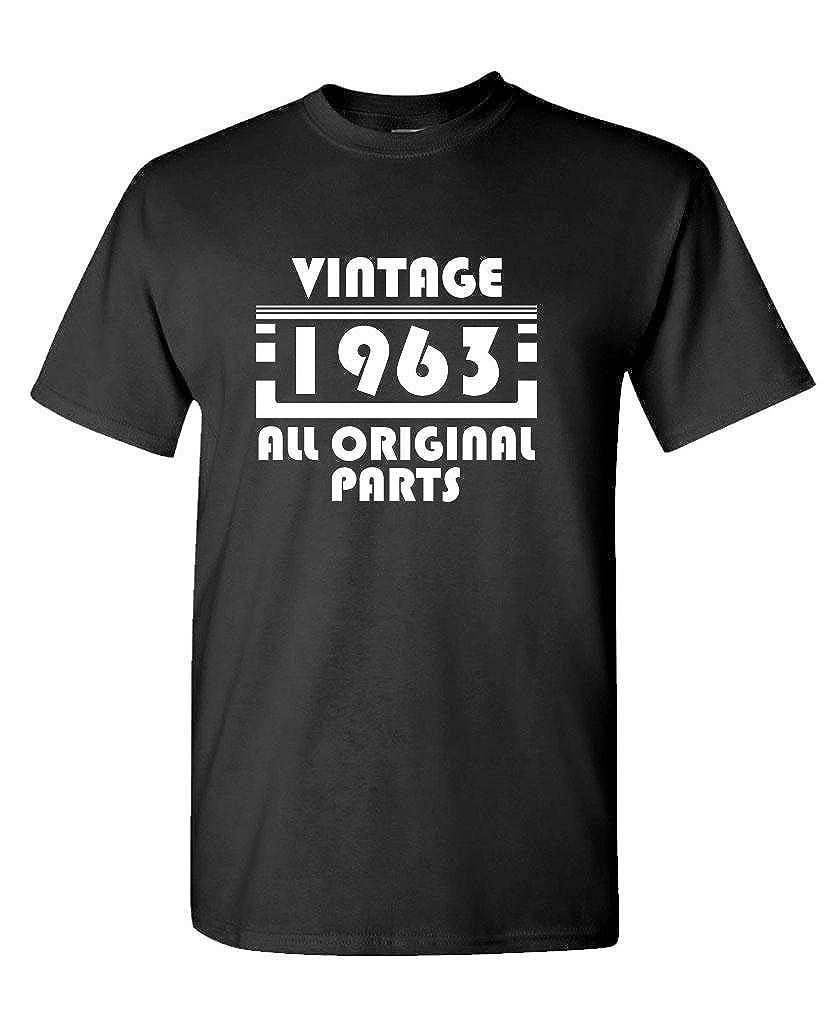 Mens Cotton Birthday T-Shirt VINTAGE 1963 ALL ORIGINAL PARTS