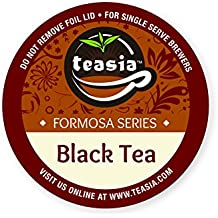 Teasia All Natural Black Tea, 36-count 2.0 COMPATIBLE K-Cup Hot Tea Iced Tea Capsules Tea Pods for Keurig Brewers