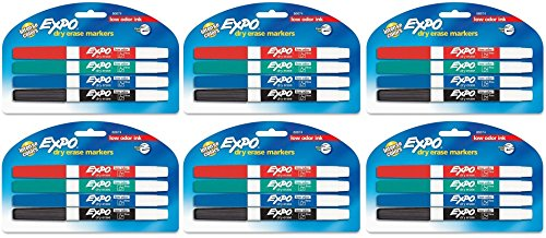 expo-low-odor-dry-erase-pen-style-markers-4-colored-markers-86674-pack-of-6-total-24-markers