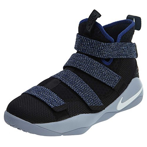 sale retailer f3e92 b1988 Nike Lebron Soldier XI 11 G.S Youth Big Kids Glacier Grey/Deep Royal Blue  918369-005 (6.5)