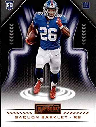 2018 Playbook Football Orange Parallel  111 Saquon Barkley New York Giants  RC Official NFL Rookie 473859e01
