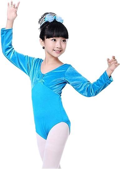 Jlong Girls Short Sleeve Gymnastics Leotard Dress Ballet Dancewear Tutu Skirt