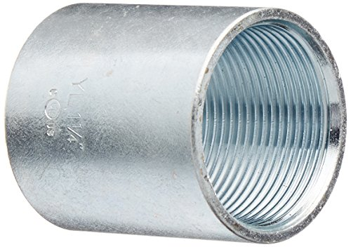 Halex 64012 1-1/4-Inch Steel Rigid Coupling (Coupling Rigid Conduit Coupling)