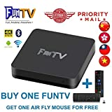 GD 2019 Newest FUNTV Box Chinese HK Taiwan Live tv+Free Small 2.4G Wireless Keyboard Air Mouse!!!