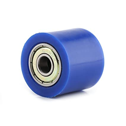 Qiilu 8mm//10mm Drive Chain Pulley Roller Slider Tensioner Wheel Guide For Street Bike Motorcycle ATV Blue,8MM