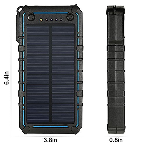 Solar Charger, Solar Power Bank, 13500mAh Portable Solar Phone Charger External Solar Panel Battery Pack Phone Charger with Dual USB and 2 LED Flashlights for iPhone X, Samsung S9/Note 8 and More by Ayyie (Image #5)