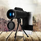 FidgetFidget 40X60 Zoom Optical HD Lens Monocular Telescope Tripod Clip for Smart Phone