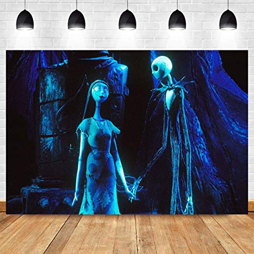 Halloween Horror Nights Theme 2019 (Nightmare Hallowmas Theme Photography Backdrop Vinyl 7x5ft Jack Lovers 2019 Halloween Horror Nights Photo Booth Studio Props Fright Night Home Decoration Photo Background Supplies Party)