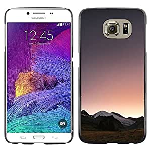 Design for Girls Plastic Cover Case FOR Samsung Galaxy S6 Landscape Horizon Mountains View Sunrise OBBA