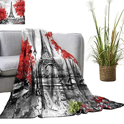 Basket Store Fr - YOYI Soft Blanket Microfiber Oil Paint Paris Europe City dscape fr ce Wallpaper Eiffel Tower Easy Travel 70