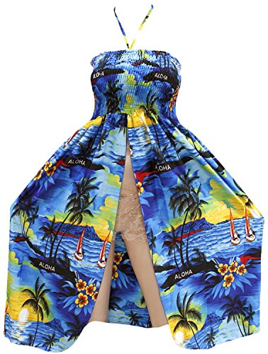 Swimwear Womens Maxi Beach wear Skirt Swimsuit Cover up Top Halter Neck Blue Spring Summer 2017