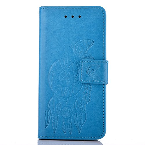 Lenovo A1000 Case, Lenovo A1000 Leather Case, Lenovo A1000 Wallet Case,Cozy Hut Retro Vintage Embossed Plum Blossoms Pattern Pu Bookstyle Strap Leather Wallet Flip Protective Case Cover with Stand and Blue chimes