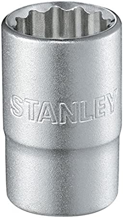 15 mm STANLEY 1-17-058 Llave de vaso 1//2 12 P mm