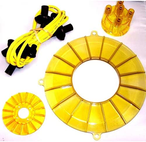 Engine Trim Dress Up Kit, 4pc, Yellow, Compatible With Bug, Dune Buggy, Beetle