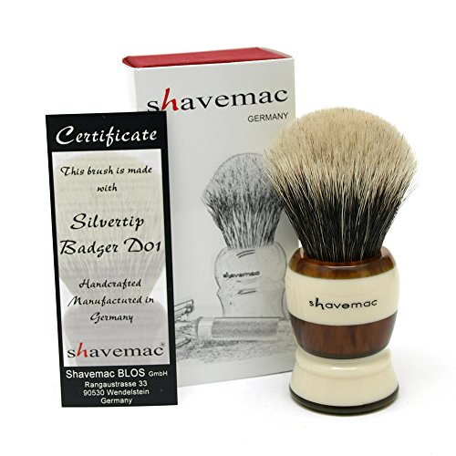 Shavemac Shaving Brush Americana Silvertip D01 2-Band by shavemac