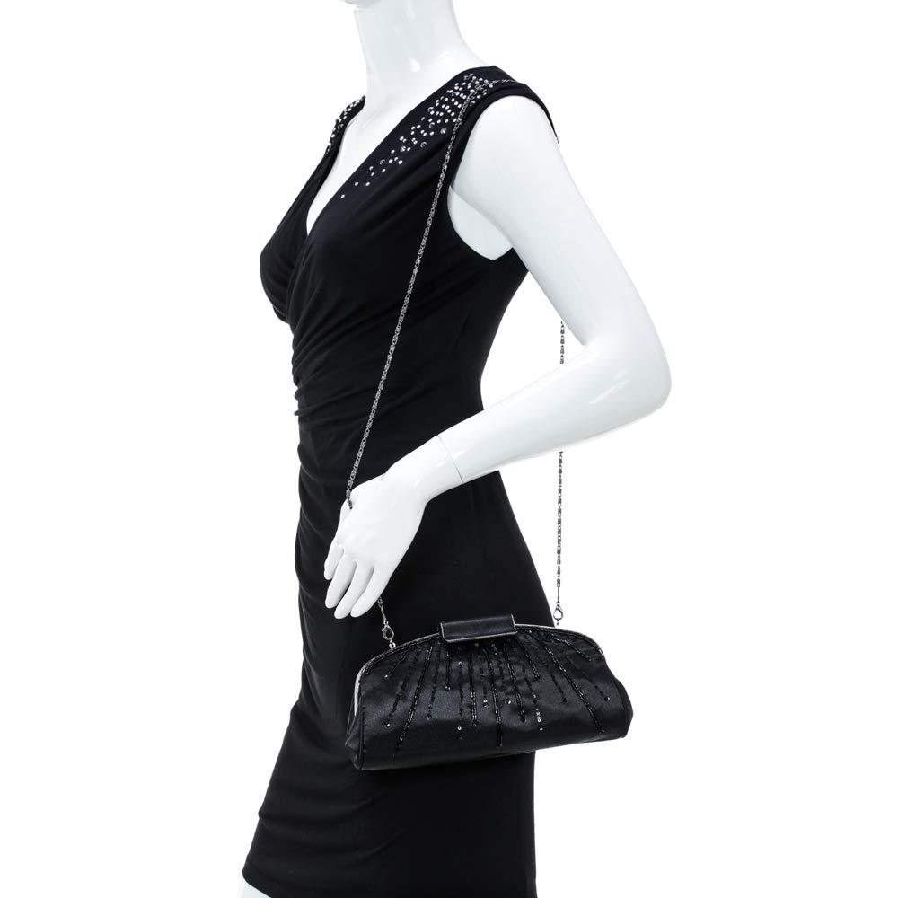 Carlo Fellini - Violet Evening Bag (Black)